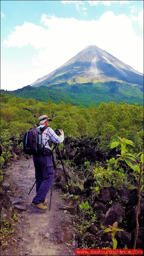 Taking picture Areanl volcano, AAA Tours