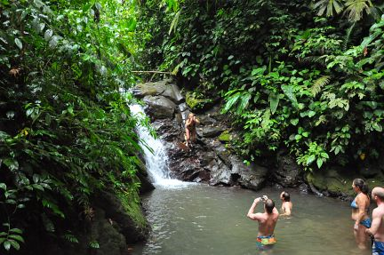 Enjoying nature in Manuel Antonio